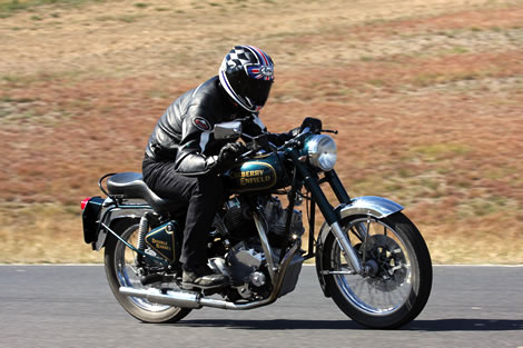 Alan Cathcart on the Carberry Enfield Double Barrel V-Twin